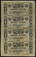 Obsoletes By State:Louisiana, New Orleans, LA- Canal Bank $20-$20-$20-$20 Uncut Sheet 18__. ...