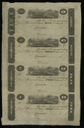 Obsoletes By State:Ohio, Cincinnati, OH- Unknown Issuer $5; $3; $2; $1 18__ Uncut Sheet ofPost Notes. ...