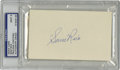 Autographs:Index Cards, Sam Rice Signed Index Card, PSA Mint 9. A Hall of Fame teammate of Walter Johnson, Rice labored nineteen of his twenty Big ...
