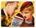 "Movie Posters:Drama, Of Human Bondage (RKO, 1934). Lobby Card (11"" X 14""). ..."