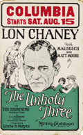 "Movie Posters:Crime, The Unholy Three (MGM, 1925). Window Card (14"" X 22""). ..."