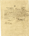 Miscellaneous:Ephemera, Texas First Class Head Right Grant of Land Jasper County Signed ...