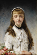 Fine Art - Painting, European:Antique  (Pre 1900), CHARLES CHAPLIN (French 1825-1911). Sweet Innocence, 1881. Oil on canvas. 25-3/4 x 18 inches (65.4 x 45.7 cm). Signed an...