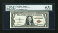 Small Size:World War II Emergency Notes, Fr. 2300 $1 1935A Hawaii Silver Certificate. Low Serial Number. PMG Gem Uncirculated 65 EPQ.. ...