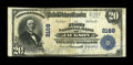 National Bank Notes:Tennessee, Jackson, TN - $20 1902 Plain Back Fr. 657 The First NB Ch. # 2168....