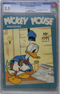 Golden Age (1938-1955):Cartoon Character, Mickey Mouse Magazine V5#12 (K. K. Publications, Inc., 1940) CGC GD+ 2.5 Cream to off-white pages....