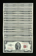 Small Size:Legal Tender Notes, Fr. 1509 $2 1953 Legal Tender Notes. Twenty-five Examples. Choice Crisp Uncirculated.. ... (Total: 25 notes)