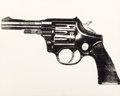 Post-War & Contemporary:Pop, Andy Warhol (1928-1987). Gun, 1981-82. Synthetic polymerpaint and silkscreen ink on canvas. 16 x 20 inches (40.6 x 50.8...