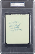 Baseball Collectibles:Others, Early 1950's Willie Mays Signed Autograph Page. ...