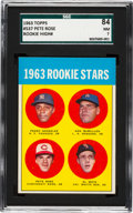 Baseball Cards:Singles (1960-1969), 1963 Topps Pete Rose - 1963 Rookie Stars #537 SGC 84 NM 7....