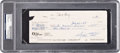 Baseball Collectibles:Others, 1995 Willie Mays Signed Check. ...