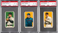 Baseball Cards:Lots, 1909-11 T206 White Border PSA EX-MT 6 Trio (3). ...