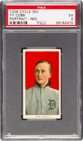 Baseball Cards:Singles (Pre-1930), 1909-11 T206 Cycle 350 Ty Cobb (Red Portrait) PSA EX 5 - NoneHigher! ...