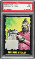 Non-Sport Cards:Singles (Post-1950), 1964 Bubbles, Inc. (Topps) Outer Limits #31 PSA Mint 9 - Pop Five,None Higher. ...