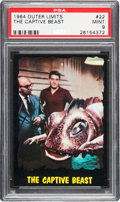 Non-Sport Cards:Singles (Post-1950), 1964 Bubbles, Inc. (Topps) Outer Limits #22 PSA Mint 9 - Pop Three,None Higher. ...