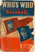 Baseball Collectibles:Others, 1941 Who's Who In Baseball Signed by 160....