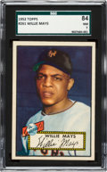 Baseball Cards:Singles (1950-1959), 1952 Topps Willie Mays #261 SGC 84 NM 7....