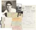 Baseball Collectibles:Others, 1936-54 Moe Berg Archive Including Signed Checks, Tax Forms &Photographs. ...
