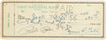 Baseball Collectibles:Others, 1956 Ty Cobb Signed Check with Pete Rose. ...