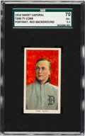 Baseball Cards:Singles (Pre-1930), 1909-11 T206 Sweet Caporal Ty Cobb (Red Portrait) SGC 70 EX+5.5....