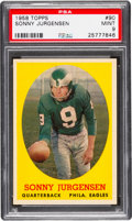 Football Cards:Singles (1950-1959), 1958 Topps Sonny Jurgensen #90 PSA Mint 9 - None Higher....