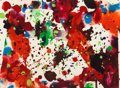 Paintings, Sam Francis (1923-1994). Untitled, 1971. Acrylic and gouache on paper. 10-5/8 x 14-1/2 inches (27 x 36.8 cm). Signed and...