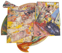 Sam Gilliam (b. 1933) Renaissance I, 1986 Acrylic, enamel, aluminum, and canvas construction, in two