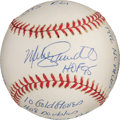 Baseball Collectibles:Balls, 2000's Mike Schmidt Single Signed, Stat Inscribed Baseball. ...