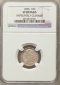 Bust Dimes, 1836 10C -- Improperly Cleaned -- NGC Details. VF. NGC Census:(5/220). PCGS Population: (7/315). CDN: $80 Whsle. Bid for p...