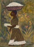 Fine Art - Work on Paper:Watercolor, Diego Rivera (1886-1957). Tehuana con velas y canasta, 1938. Gouache on paper. 14-3/4 x 11 inches (37.5 x 27.9 cm) (shee...
