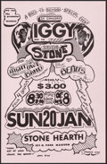 """Movie Posters:Rock and Roll, Iggy and the Stooges at Stone Hearth (Whiplash, 1974). ConcertWindow Card (11"""" X 17.25""""). Rock and Roll.. ..."""