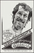 Movie Posters:Rock and Roll, Loudon Wainwright III with Cedar Frost at the Armadillo WorldHeadquarters & Other Lot (AWH, 1974). Concert Window Cards(2)... (Total: 2 Items)