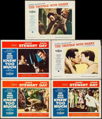 """The Man Who Knew Too Much & Other Lot (Paramount, 1956). Lobby Cards (5) (11"""" X 14""""). Hitchcock. ... (Tota..."""