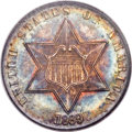 Three Cent Silver, 1869 3CS MS65 PCGS Secure. CAC....