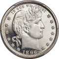 Proof Barber Quarters, 1896 25C PR68 Deep Cameo PCGS. CAC....