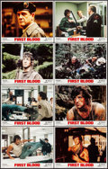 "Movie Posters:Action, First Blood (Orion, 1982). Lobby Card Set of 8 (11"" X 14"").Action.. ... (Total: 8 )"