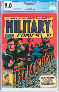Golden Age (1938-1955):War, Military Comics #17 (Quality, 1943) CGC VF/NM 9.0 Off-white towhite pages....