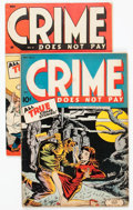 Golden Age (1938-1955):Crime, Crime Does Not Pay #33 and 41 Group (Lev Gleason, 1944-45) Condition: Average GD+.... (Total: 2 Comic Books)