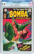 Silver Age (1956-1969):Adventure, Bomba the Jungle Boy #1 (DC, 1967) CGC NM 9.4 Off-white to white pages....