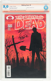 The Walking Dead #6 Verified Signature (Image, 2004) CBCS VF 8.0 White pages