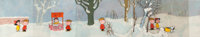 A Charlie Brown Christmas Lucy, Charlie Brown, and Snoopy Production Cel Sequence and Pan Key Master Background Setup...