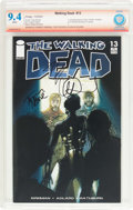 Modern Age (1980-Present):Horror, The Walking Dead #13 Verified Signature (Image, 2004) CBCS NM 9.4White pages....