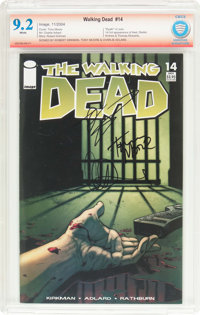 The Walking Dead #14 Verified Signature (Image, 2004) CBCS NM- 9.2 White pages