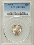 Roosevelt Dimes, 1949-D 10C MS67 Full Bands PCGS. PCGS Population: (116/9). NGC Census: (77/1). Mintage 26,034,000. ...