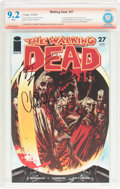 Modern Age (1980-Present):Horror, The Walking Dead #27 Verified Signature (Image, 2006) CBCS NM- 9.2White pages....