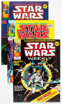 British Star Wars Weekly Magazine Group of 10 (Marvel, 1978) Condition: Average FN/VF.... (Total: 10 Comic Books)