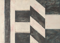 Sean Scully (American, b. 1945) New York #11, 1989 Monotype 34-1/2 x 48 inches (87.6 x 121.9 cm)<