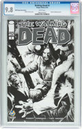 Modern Age (1980-Present):Horror, The Walking Dead #1 Wizard World Chicago Sketch Edition (Image,2015) CGC NM/MT 9.8 White pages....