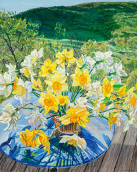 Janet Fish (b. 1938) Daffodils and Spring Trees, 1988 Oil on canvas 60 x 48 inches (152.4 x 121.9