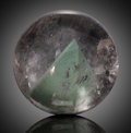 Lapidary Art:Eggs and Spheres, Quartz Sphere with Chlorite Inclusion. Brazil. ...